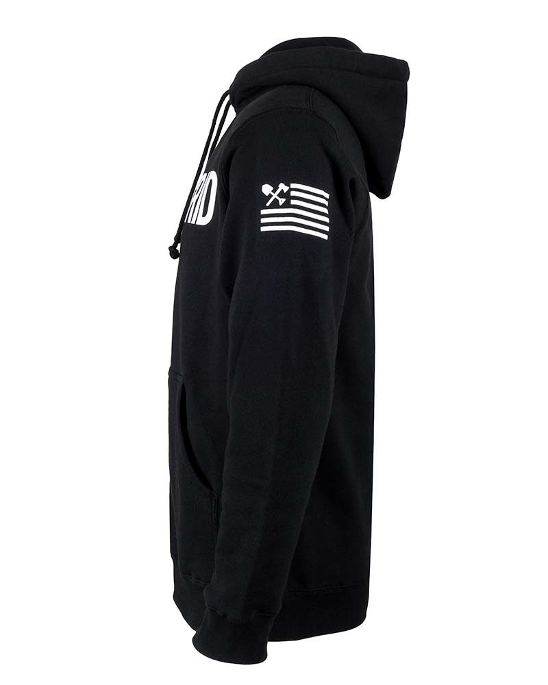 Solid Off The Grid Logo Pull Over Hoodie SIDE